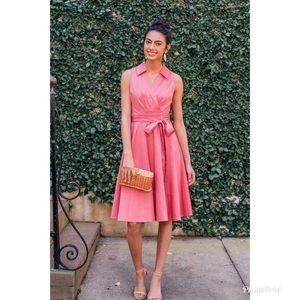GMG Heather Sleeveless Stretch Cotton Wrap Dress 0